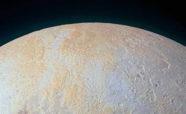 Imagen del área del polo norte de Plutón tomada por la sonda New Horizons. NASA/JHUAPL/SwRI