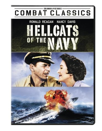 Nancy y Ronald Reagan  en el poster de la pelicula Hellcats of the Navy
