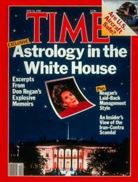 La primera dama Nancy Reagan escandalizó América cuando se descubrió que consultó a los astrólogos.