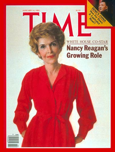 Nancy Reagan en la portada de la revista Time el 14 de enero de 1985