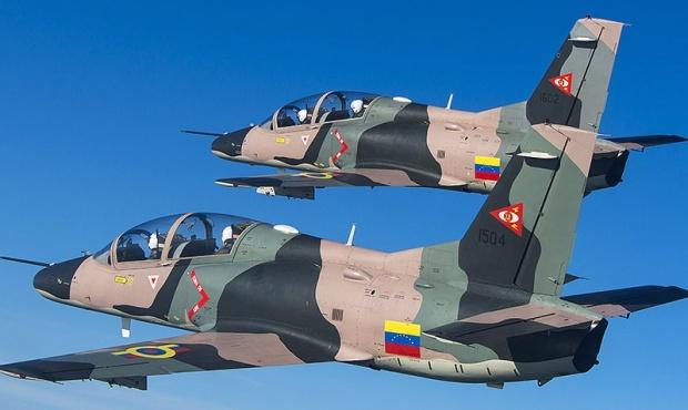 Aviones caza K8 chinos de entrenamiento y combate ligero de la Fuerza Área Venezolana / archivo