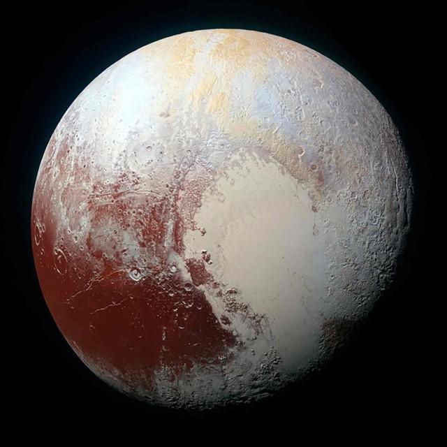 Imagen de archivo de Plutón captada por la sonda New Horizons