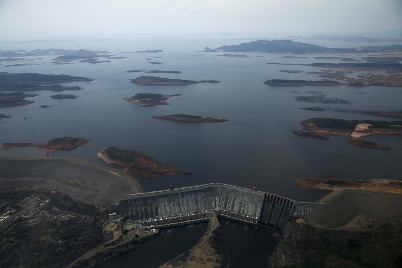 Imagen que refleja la sequía del embalse El Guri. Foto: Archivo