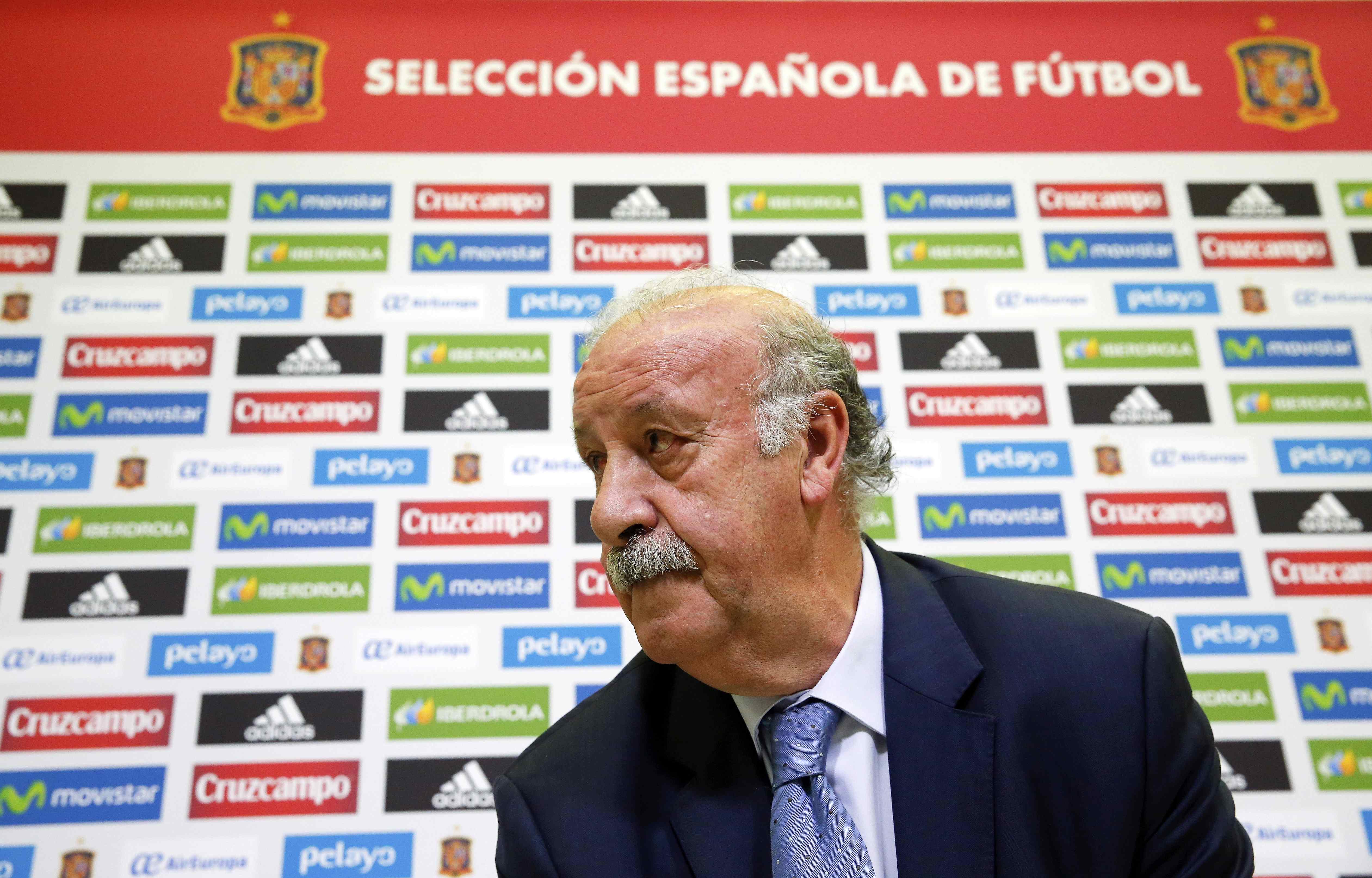 Vicente del Bosque, director técnico de la selección española (Foto Reuters)
