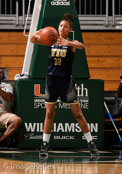 22 December 2015: Florida International University forward Soraya Page (32) plays against the University of Miami in Miami's 83-55 victory at BankUnited Center, Coral Gables, Florida.