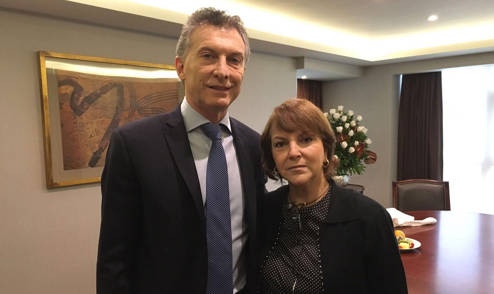 Argentina: Presidente Macri a Mitzy de Ledezma: Argentina no dejará sola a Venezuela