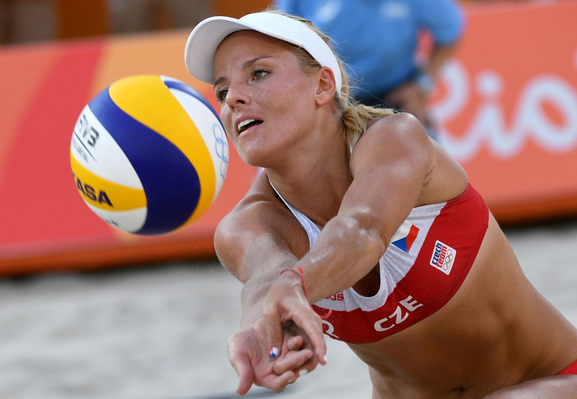 La selección checa de voleyball femenino de festival