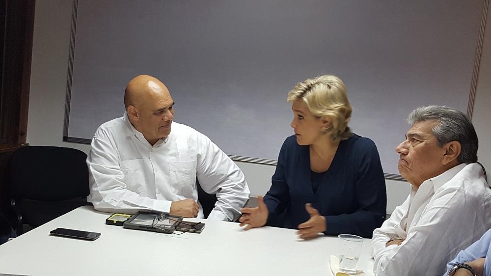Cynthia Viteri estuvo en Venezuela invitada por la Mesa de la Unidad