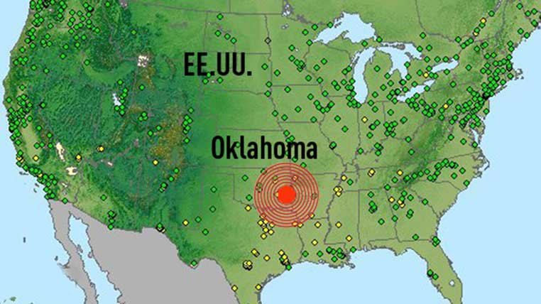 Resultado de imagem para terremoto oklahoma