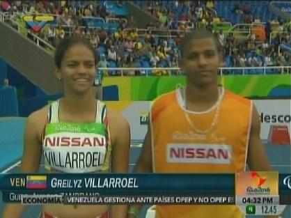 Greilyz Villarroel logró diploma en Juegos Paralímpicos Río 2016