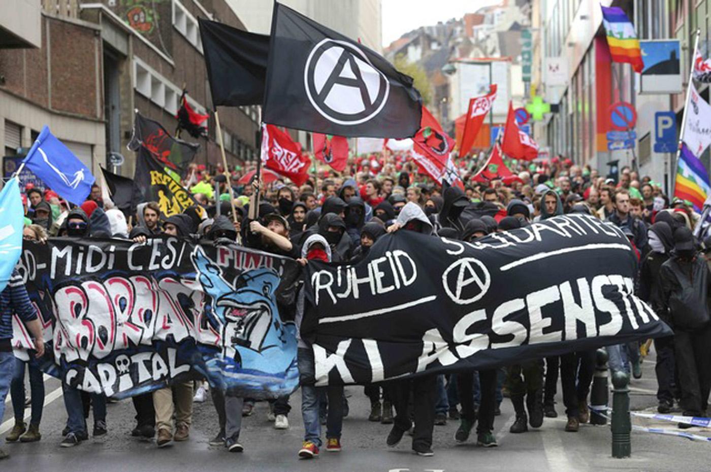 Se manifiestan en Bélgica contra las medidas de austeridad