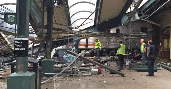 Tren choca en Nueva Jersey y deja centenar de heridos