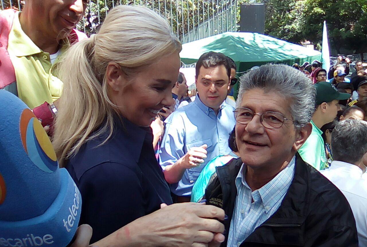 Ramos Allup denunció saboteo de acto de la MUD en Anaco, Anzoátegui