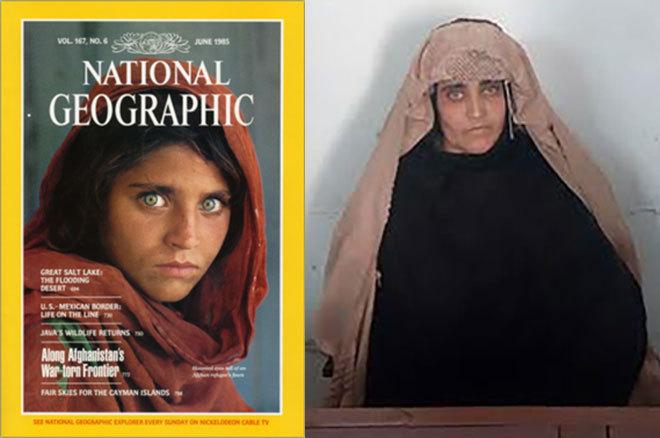 Ojos verdes de National Geographic reflejan drama afgano