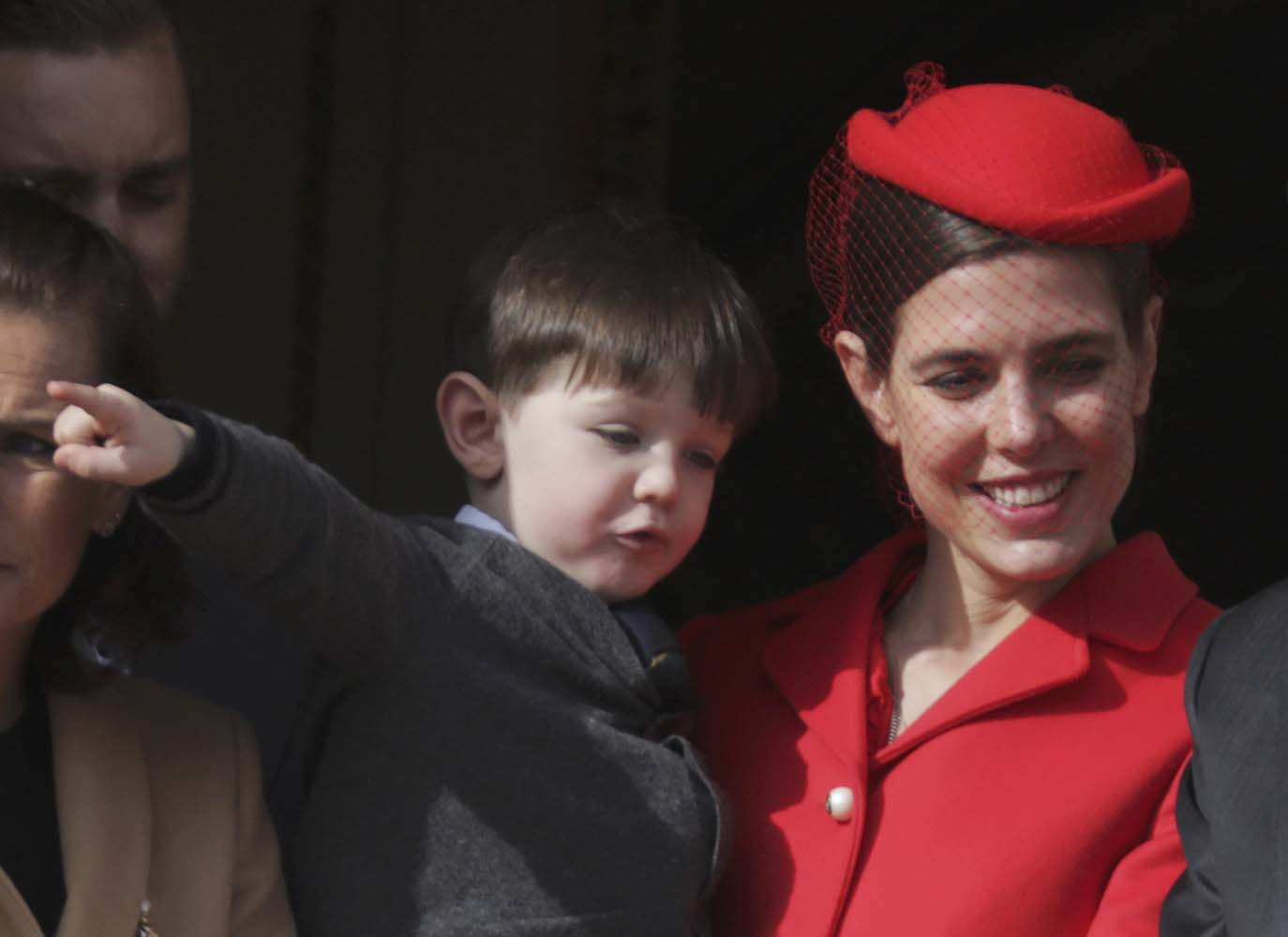 Charlotte Casiraghi and her son Raphael stand at the Palace Balcony during Monaco's National Day November 19, 2016. REUTERS/Eric Gaillard