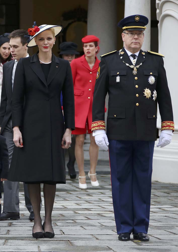Prince Albert II of Monaco and his wife Princess Charlene attend the celebrations marking Monaco's National Day at the Monaco Palace November 19, 2016. REUTERS/Eric Gaillard