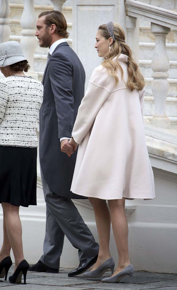 Pierre and Beatrice Casiraghi attend the celebrations marking Monaco's National Day at the Monaco Palace November 19, 2016. REUTERS/Eric Gaillard