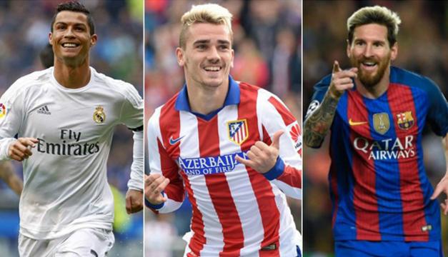 Cristiano Ronaldo, Griezmann y Messi, finalistas para premio de mejor jugador