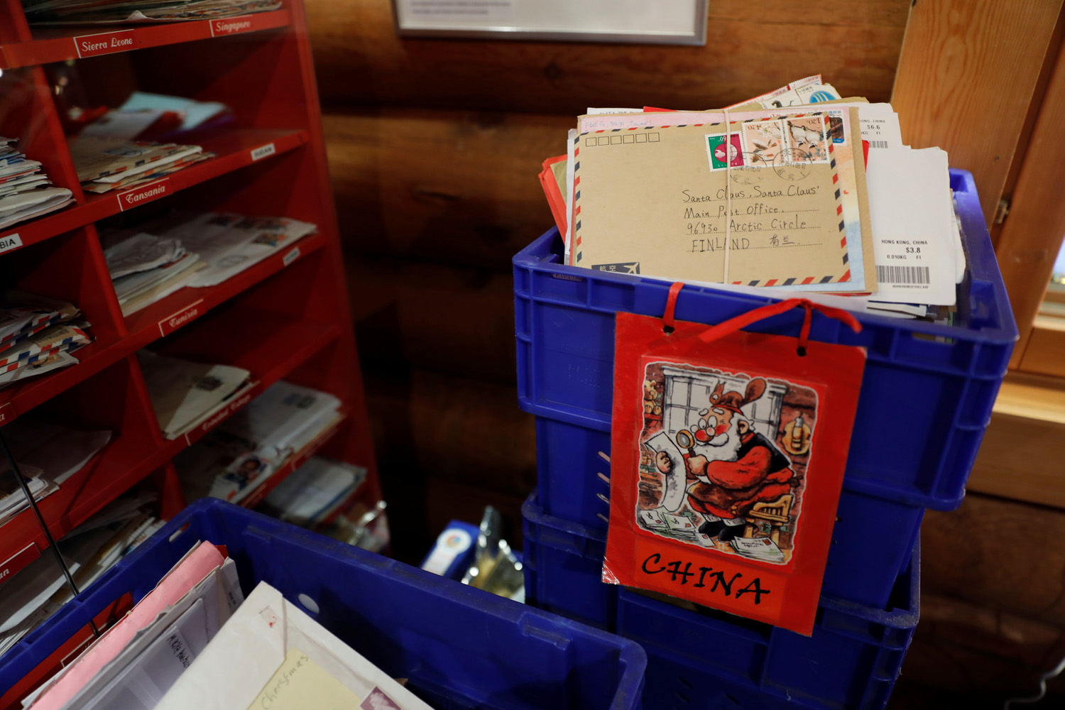 "Letters from around the world are stored at the Santa Claus' Post Office in the Arctic Circle near Rovaniemi, Finland December 15, 2016. REUTERS/Pawel Kopczynski SEARCH ""KOPCZYNSKI SANTA"" FOR THIS STORY. SEARCH ""THE WIDER IMAGE"" FOR ALL STORIES"