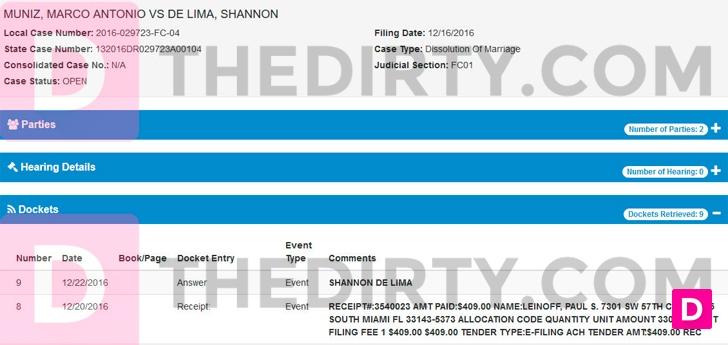 Foto: Solicitud de divorcio entre Marc Anthony y Shannon de Lima / thedirty.com