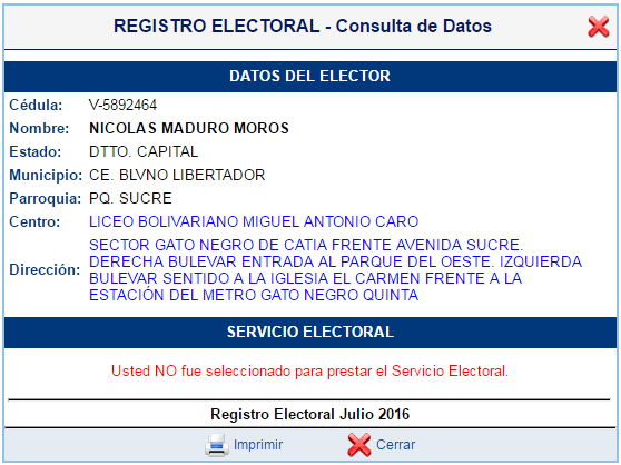 cedula Maduro 5892464