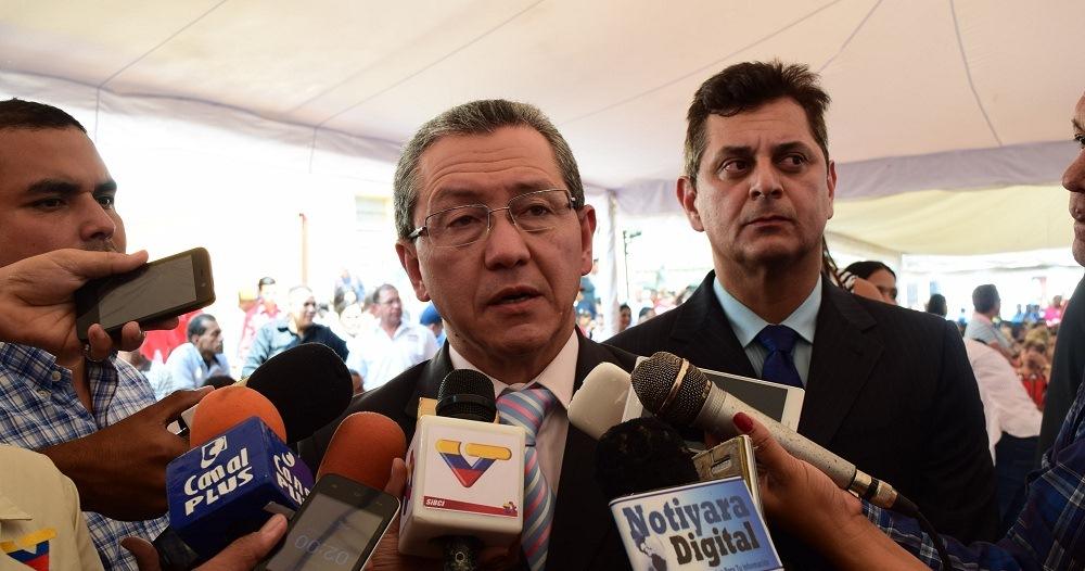 El Gobernador Julio León, declara durante los actos conmemorativos por los 389 años de la Fundación de la Ciudad de Nirgua. / Prensa despacho del gobernador