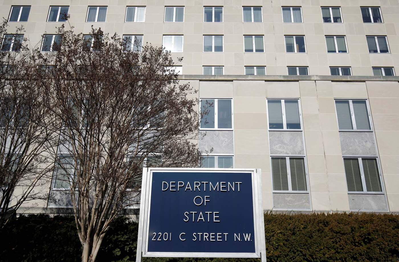 Fachada del Departamento de Estado Washington, EEUU (Foto REUTERS/Joshua Roberts/ archivo)