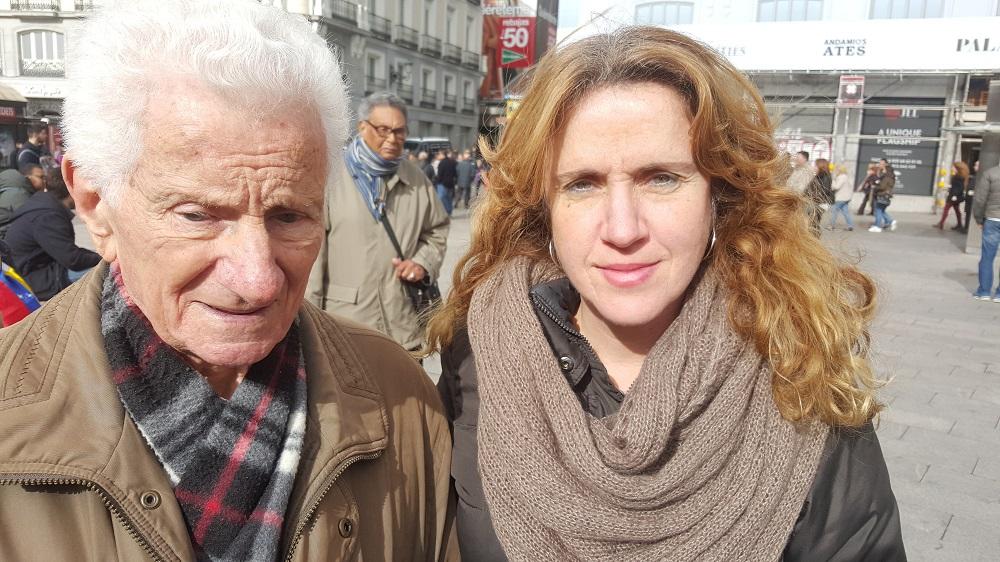 El Sr. Manuel Franco y su hija Ana Belén Franco / Foto Carlos Moreno