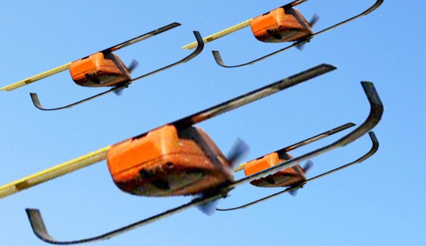 Microdrones Perdix enjambre