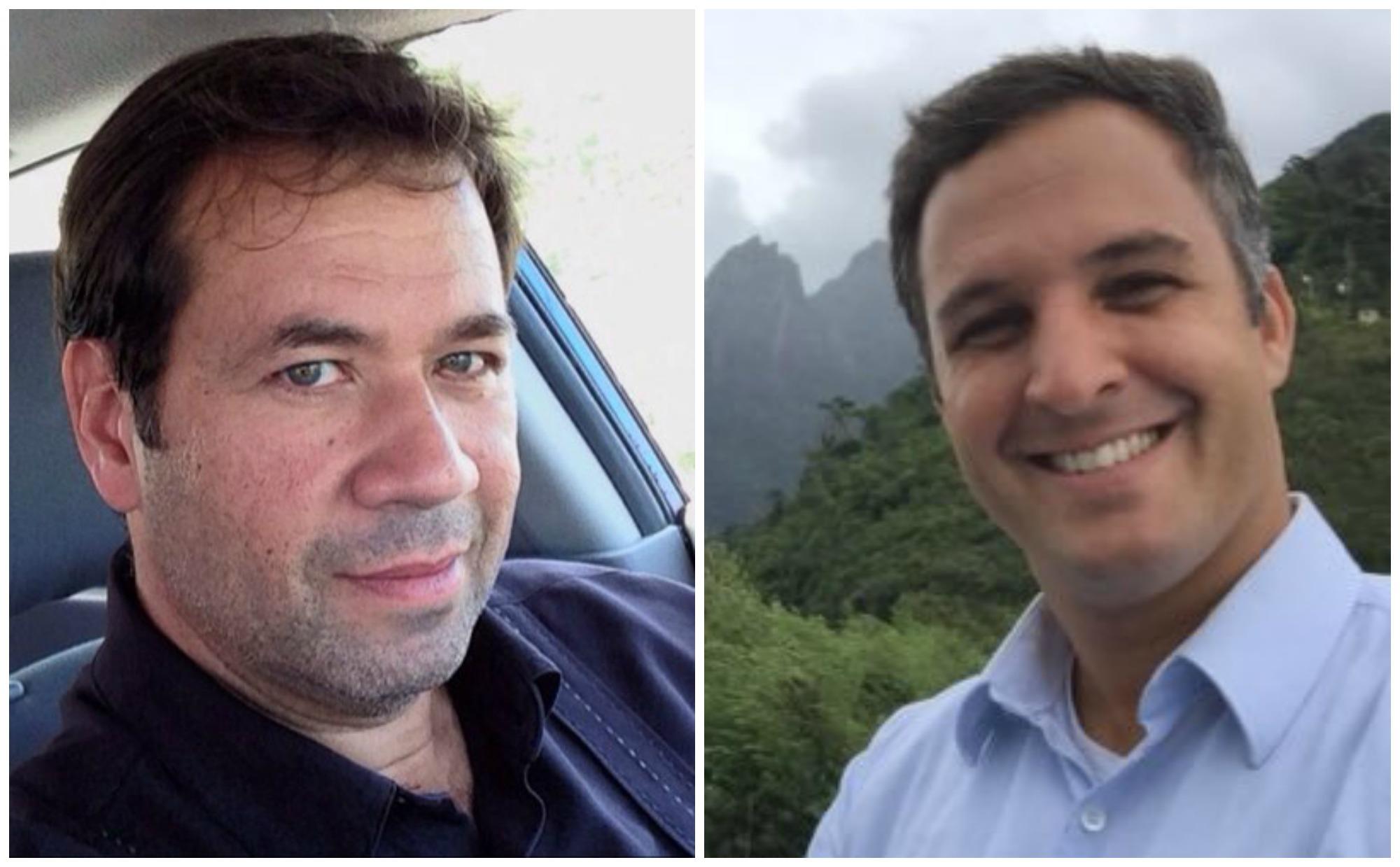 Leandro Stoliar y Jesus Urbina periodistas brasileños