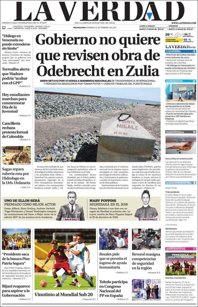 Portadas de los diarios nacionales y regionales de este for La patilla nacionales
