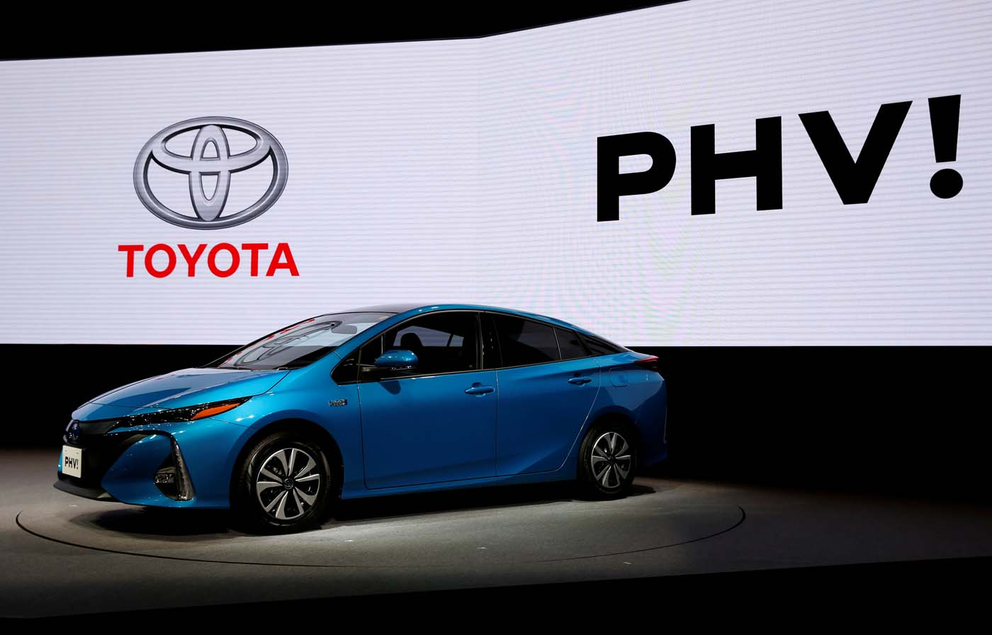 Toyota Motor Corp. displays the company's Prius PHV Plug-in-Hybrid vehicle, also known as Prius Prime in the U.S., during an event to mark the launch of the car in Japan, in Tokyo, Japan February 15, 2017. REUTERS/Issei Kato