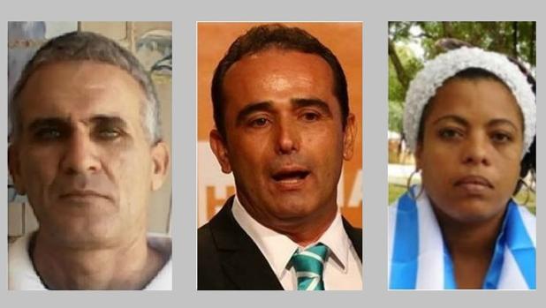 Tres de los presos políticos cubanos: Darío Pérez, Eduardo Cardet y Jacqueline Heredia - Directorio Democrático / ABC