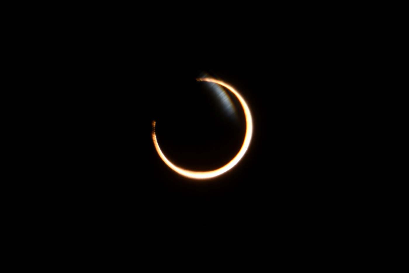 The moon passes between the sun and the earth during a solar eclipse in Coyhaique, Chile February 26, 2017. REUTERS/Stringer EDITORIAL USE ONLY. NO RESALES. NO ARCHIVE