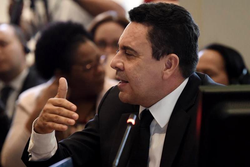 El viceministro para América del Norte de Venezuela, Samuel Moncada