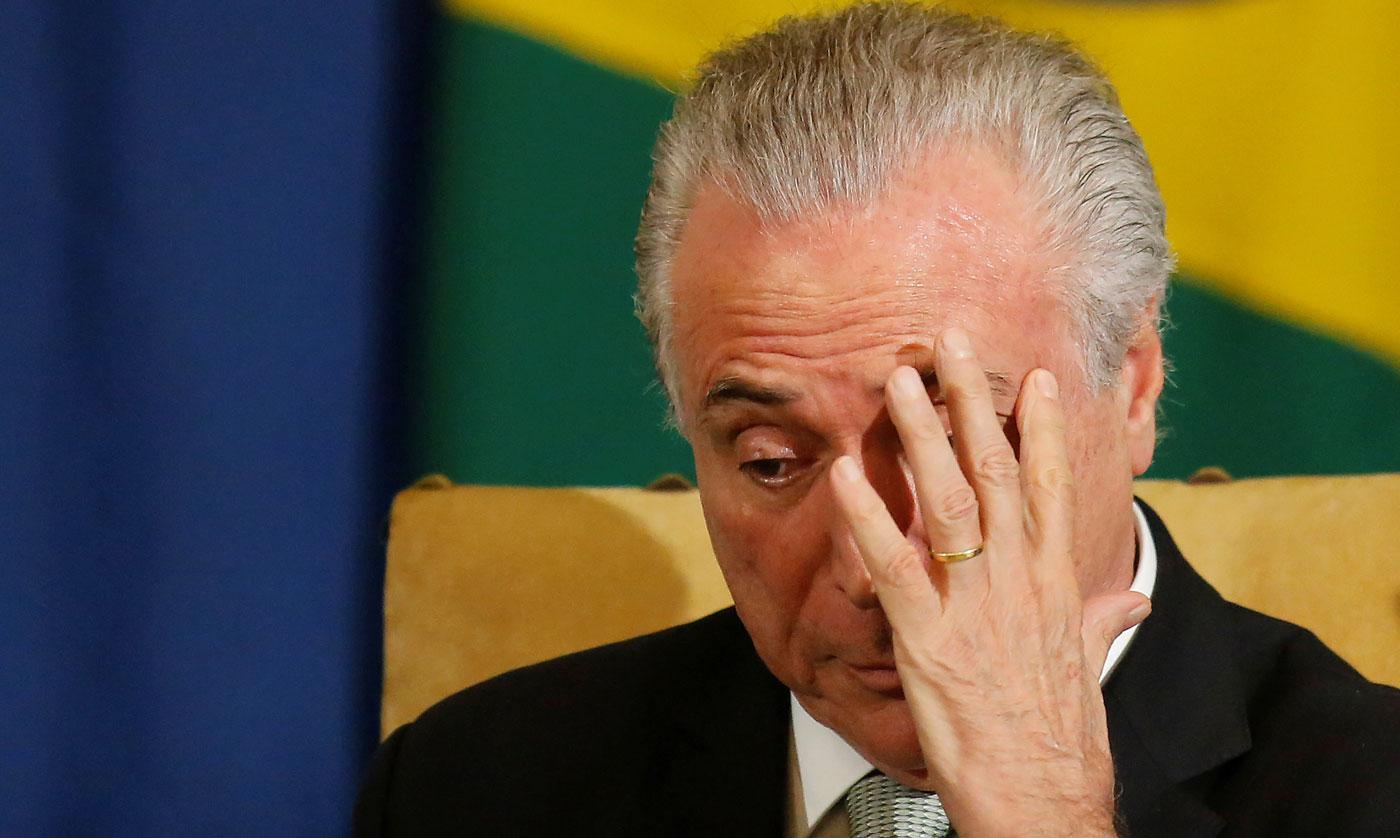 Michel Temer, presidente de Brasil (Foto Reuters)
