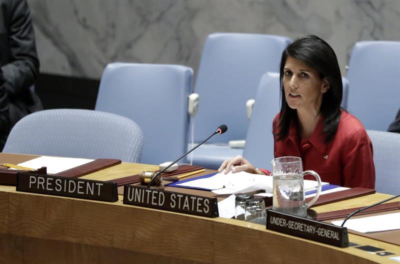 La embajadora estadounidense, Nikki Haley (Foto: EFE)