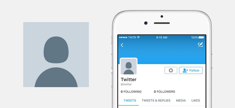 Nueva imagen predeterminada para el perfil de una cuenta en Twitter.