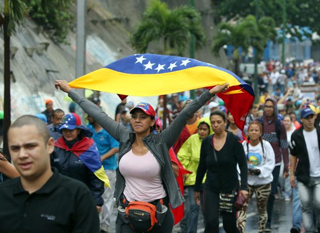 Cientos de personas manifestaron en contra del Gobierno este 13 de abril de 2017, en Caracas. (Foto  REUTERS/Carlos García Rawlins)