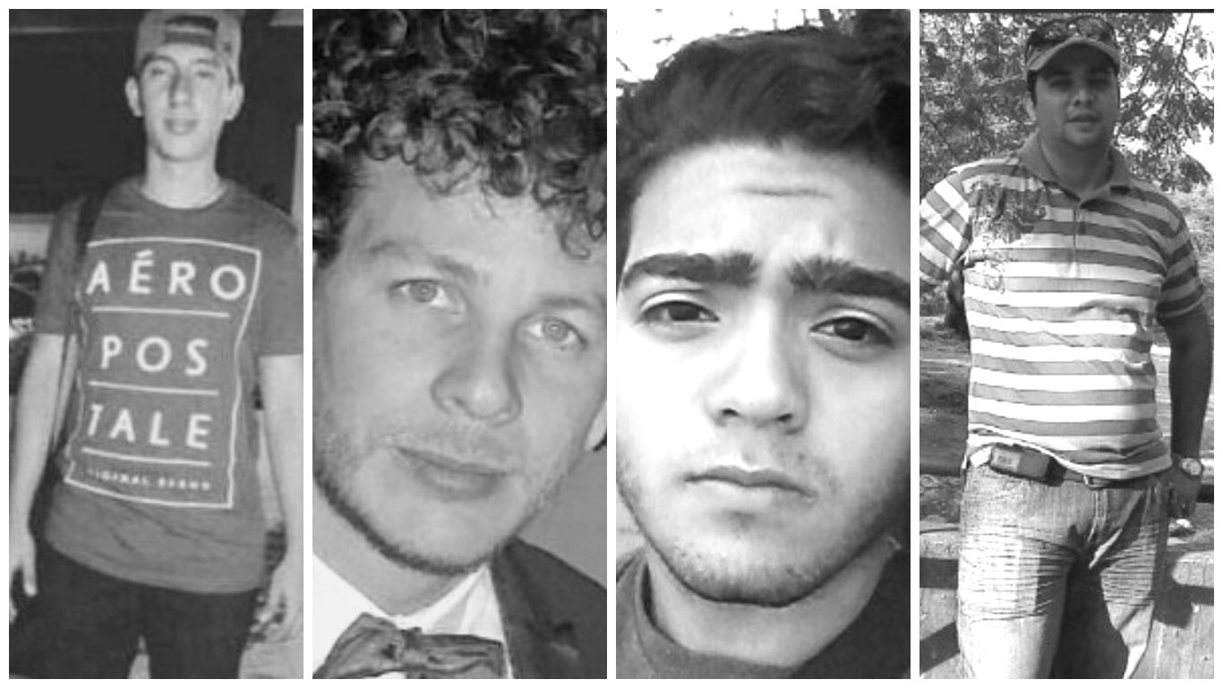 Rostros de asesinados durante las manifestaciones contra Maduro