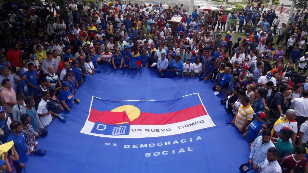 UNT se hizo presente en la manifestación de oposición de este jueves en Zulia.