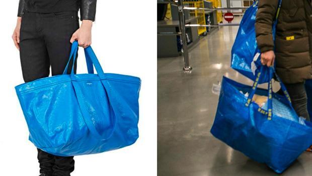 El parecido de diseño entre la bolsa de Ikea y la de Balenciaga provoca carcajadas en Twitter