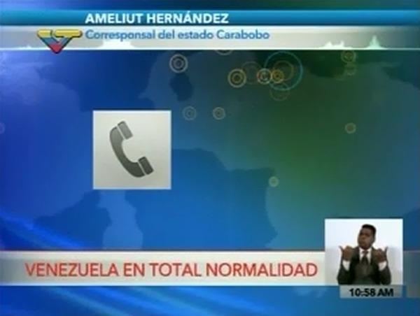 Venezuela en total normalidad: El reportaje de VTV sobre las protestas nocturnas