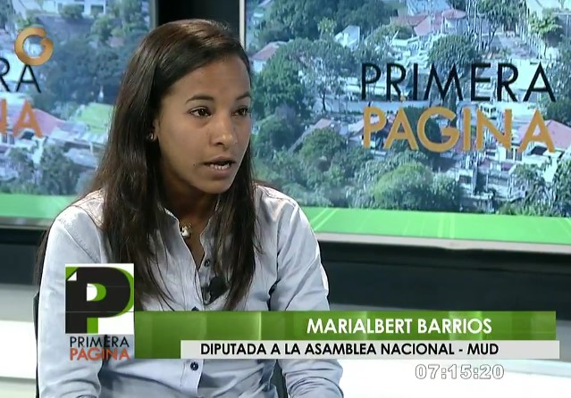 Marialbert Barrios, diputada de la AN / Foto captura tv