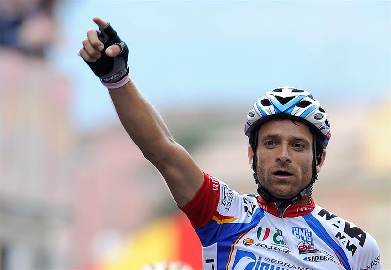 Ciclista italiano Michelle Scarponi / Foto: EFE