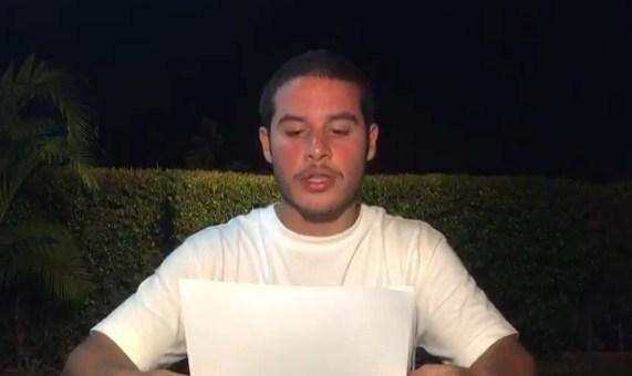 Yibram Saab, el hijo del Defensor del Pueblo, Tarek William Saab