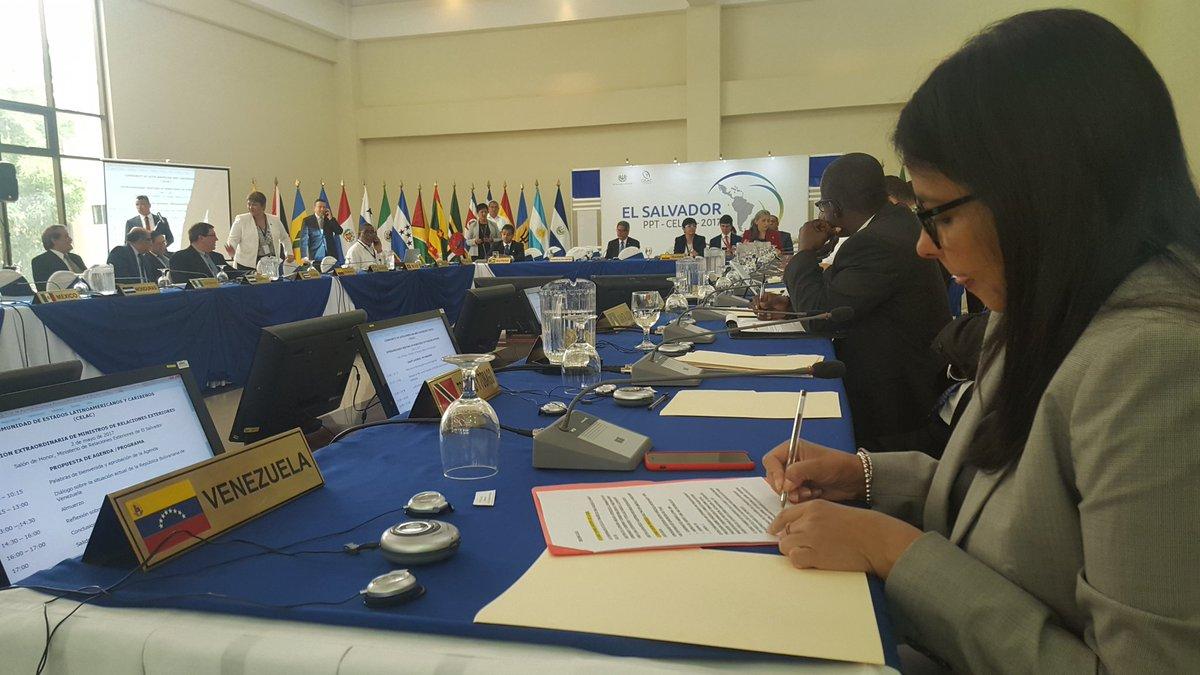 Cancilleres de la Celac se reúnen este 2 de mayo para abordar el tema Venezuela en El Salvador