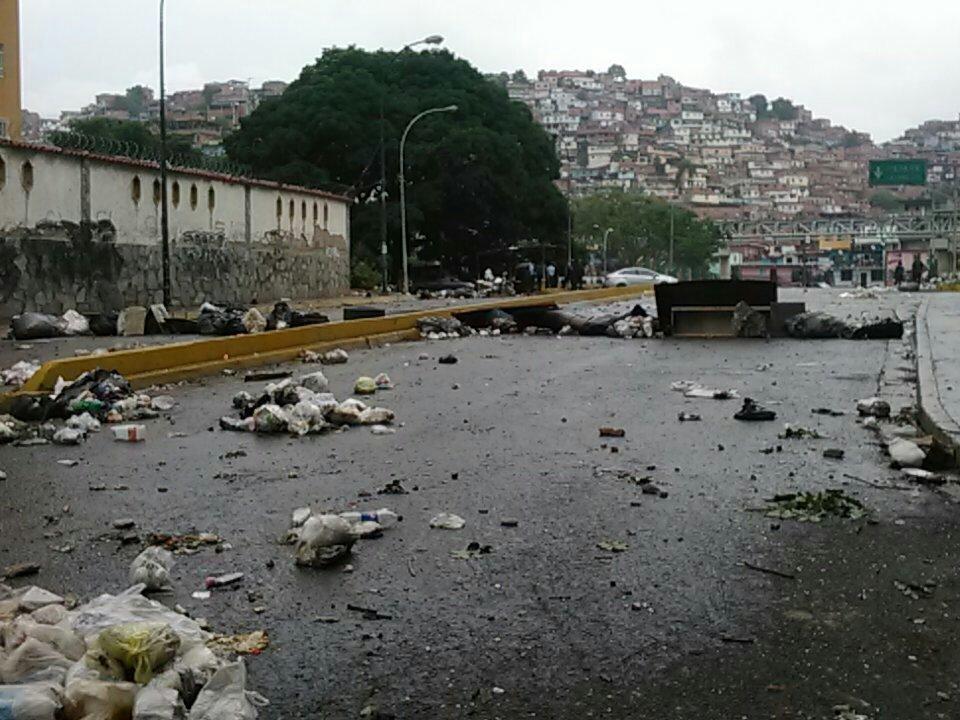 Así quedó La Urbina tras la fuerte represión
