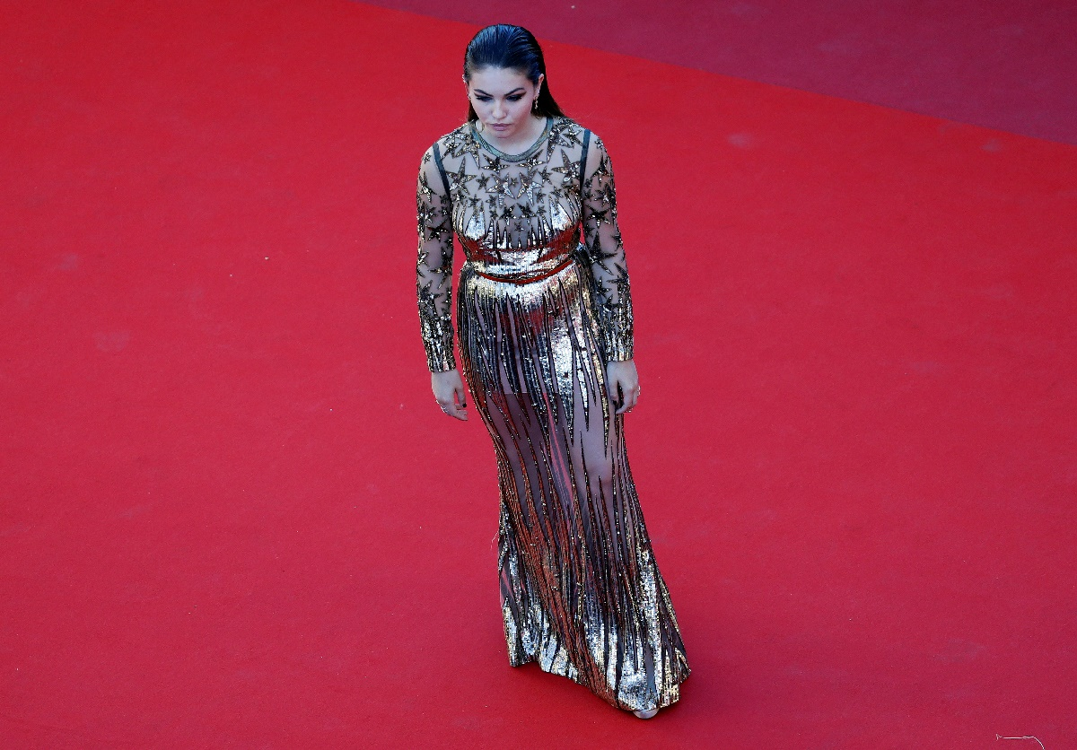 "70th Cannes Film Festival - Screening of the film ""Okja"" in competition - Red Carpet Arrivals- Cannes, France. 19/05/2017. Model Thylane Blondeau poses. REUTERS/Eric Gaillard"