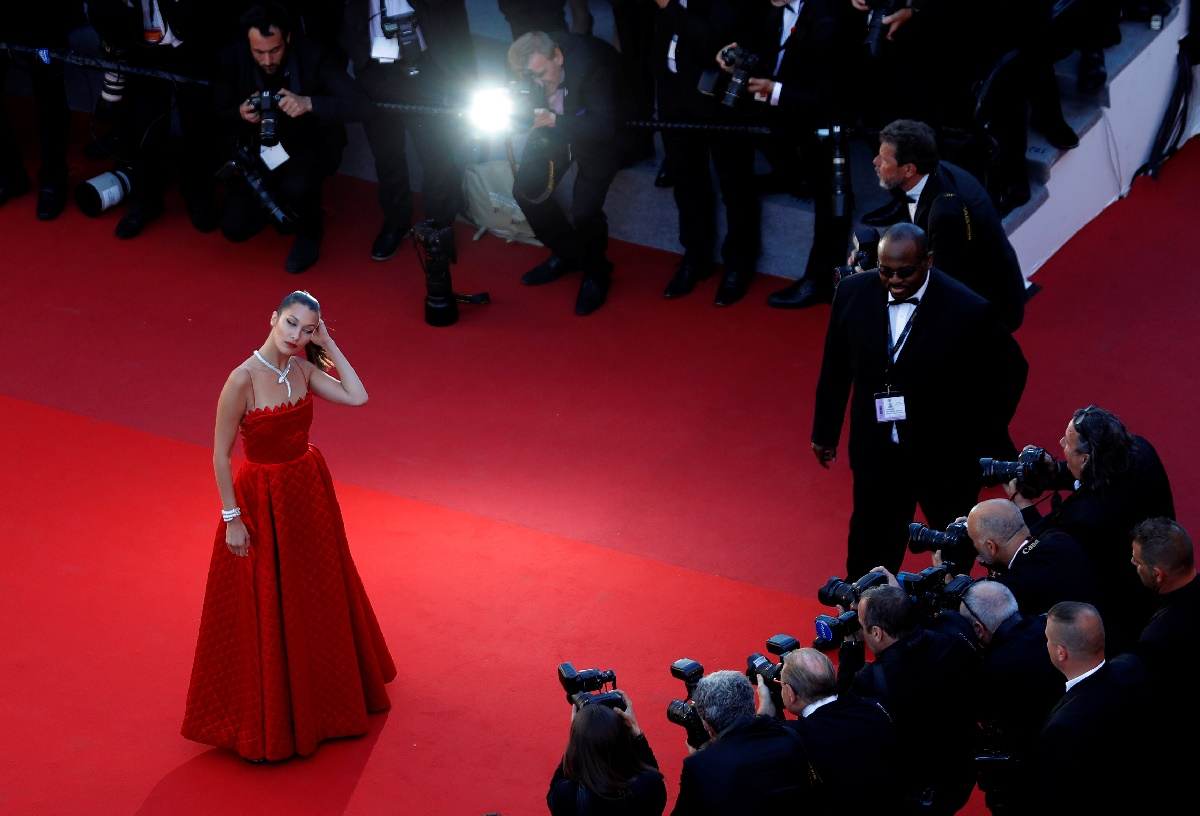"70th Cannes Film Festival - Screening of the film ""Okja"" in competition - Red Carpet Arrivals- Cannes, France. 19/05/2017. Model Bella Hadid poses. REUTERS/Eric Gaillard TPX IMAGES OF THE DAY"